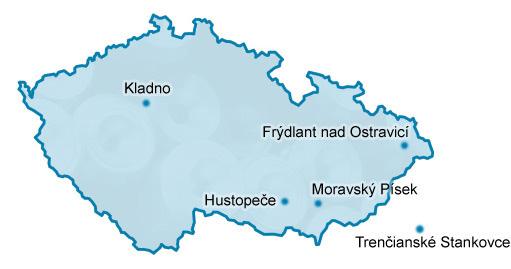 Mapa skladů